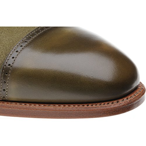 Herring  Herring Porto, Chaussures de ville à lacets pour homme Green Calf and Suede