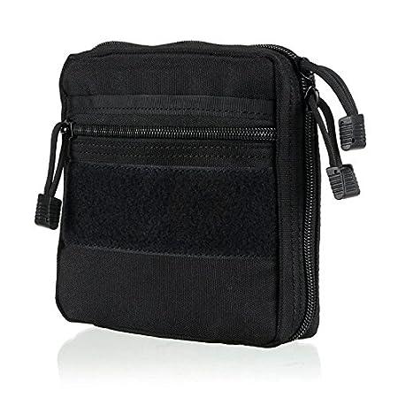 ruifu Tactical Molle Dump Pouch Utilidad Molle accesorio sujeción a mochila, negro