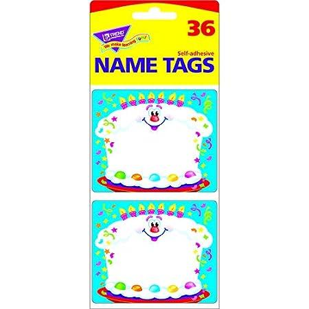 trend enterprises inc happy birthday name tags set of 12 amazon