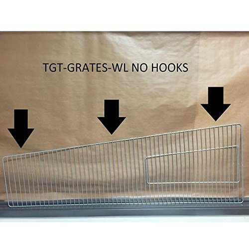 FIREPLACE CLASSIC PARTS Patio Heater Glass Tube Protective Grates for Triangle Heater with No Hooks FCPTGT-Grate-WL