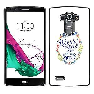 LECELL--Funda protectora / Cubierta / Piel For LG G4 -- Usted dios minimalista texto blanco --
