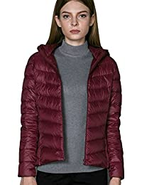 CHERRY CHICK (A Jacket for 3 Season Women's Ultralight Packable Down Jacket with Hood