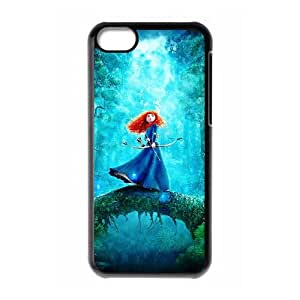 iPhone 5c Cell Phone Case Black Disneys Brave xgee