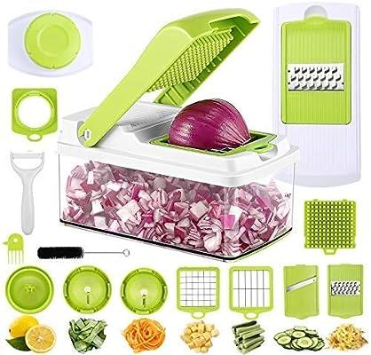 PREUP Mandolina Verduras 11 en 1 Cortador de Verduras y Frutas ...