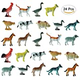 Etmact Small Plastic Farm Animals 24 Piece
