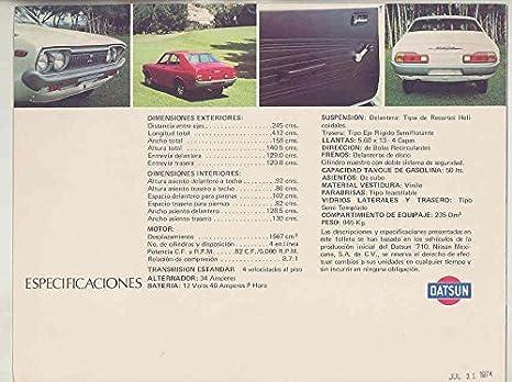 Amazon.com: 1974 Datsun 710 Brochure & Factory Mailing Envelop Mexico: Entertainment Collectibles
