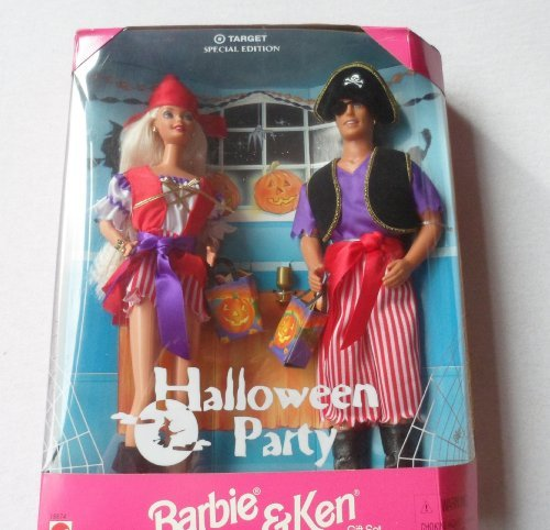 (HALLOWEEN PARTY BARBIE & KEN DOLLS Set TARGET Special Edition w Barbie Doll & Ken Doll Dressed as PIRATES (1998))