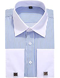 French Cuff Long Sleeves Fit Dress Shirts (Cufflink included)