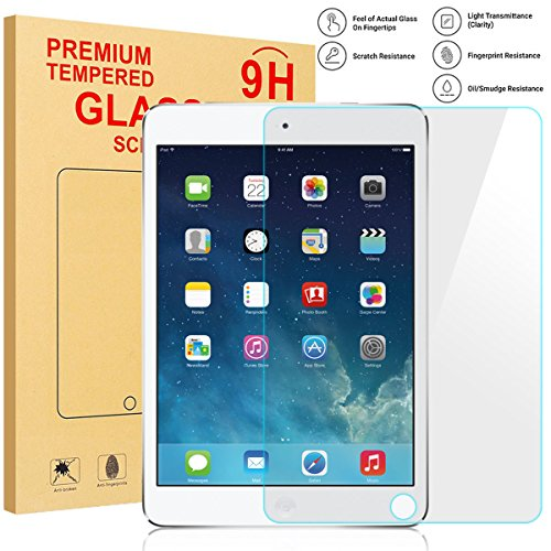 AVAWO Tempered Glass Screen Protector for New iPad 9.7 2018/iPad 9.7 2017/iPad Air 2/iPad Air Glass Screen Protector/Apple Pencil Compatible/2.5D Round Edge/Scratch Resistant