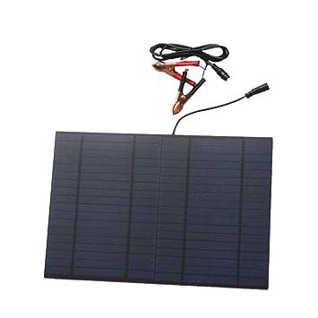 Baoblaze 10W Cargador Panel Solar Placa Solar Puerto de CC ...