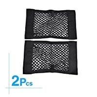 Universal Trunk Organizer MCARCAR KIT Rear Trunk Cargo Mesh Net Bag Flexible Nylon Car Storage Wall Sticker Pouch Bag