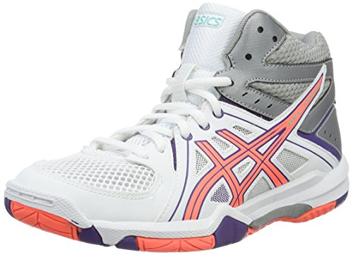 Task Purple Rosa Volleyball Gel Mt Chaussures white De Asics flash parachute Femme Blanc Coral T5wqO