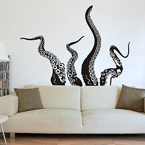 Cheap  MoharWall Octopus Tentacles Wall Decals living Room Sticker Kraken Sea Creature Monster..