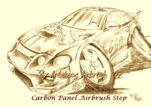 Airbrush Tutorial - Carbon Panel (ArteKaos Airbrush - Airbrush Steps Book 1)