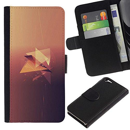 Funny Phone Case // Cuir Portefeuille Housse de protection Étui Leather Wallet Protective Case pour Apple Iphone 6 /Minimaliste diamant/