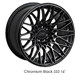 XXR 553 17 Hyperblack Wheel / Rim 4x100 & 4x4.5 with a 22mm Offset and a 73.1 Hub Bore. Partnumber 553784650