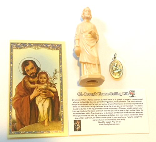 JMJ Products, LLC St. Joseph statue house selling kit with Medallion