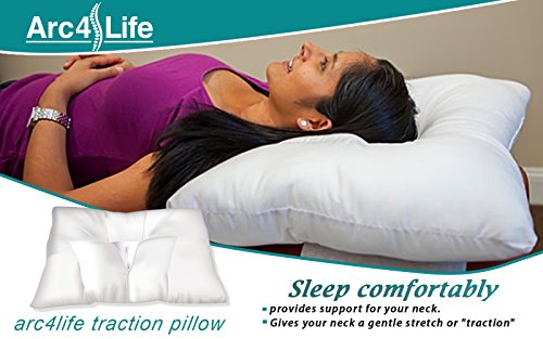 "Cervical Neck Traction Pillow For Sleeping - Queen Standard Size Side Sleeper And Back Pillows For Beds Neck Pillow For Sleeping Standard Neck Pillow For Sleep MEDIUM 24""x17"""