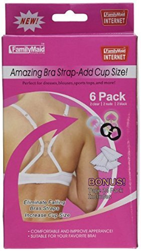 As Seen on TV - The Ultimate Bra Strap Solution Perfect Concealer Clips - Cleavage Control - 6 Pack Plus Body Tape by A.J. Wholesale Distributors