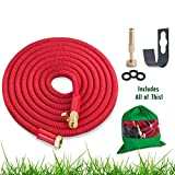 Metal Wall Hanger for Expandable Hose, Heavy Duty Garden Hose and Retractable Hose