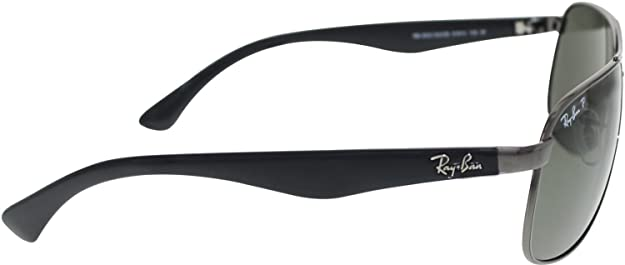 98cb36a6a81 Amazon.com  Ray-Ban Sunglasses - RB3502 Highstreet   Frame  Gunmetal Lens   Crystal Green Polarized  Shoes