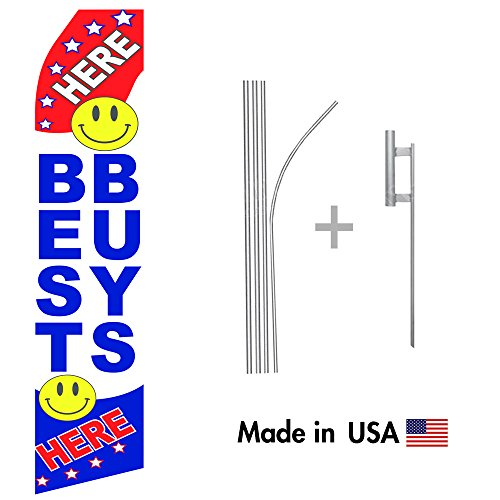 best-buys-here-econo-flag-16ft-aluminum-advertising-swooper-flag-kit-with-hardware