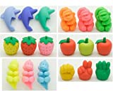 Iwako Japanese Pencil Top Erasers, 18 Piece