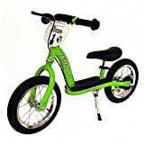 Kettler 12-Inch Racer Balance Bike with Push Bar (Green)