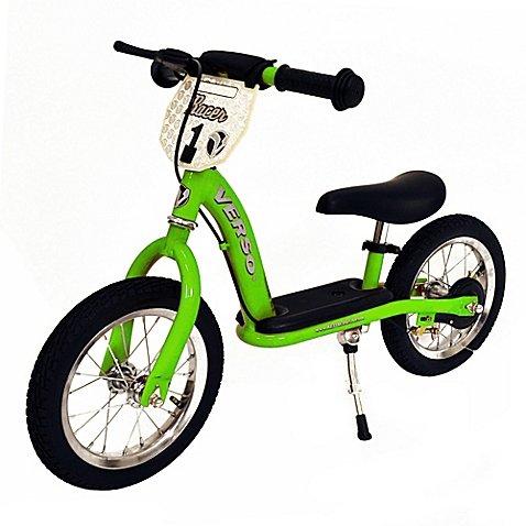 Kettler 12-Inch Racer Balance Bike with Push Bar (Green)
