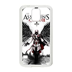Durable Rubber Csaes Samsung Galaxy S5 I9600 White Cell Phone Case Assassin's Creed Kgqwy Special Design Cover