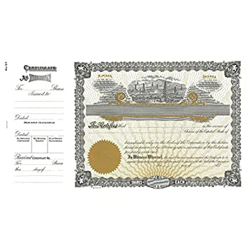 image relating to Printable Stock Certificates called : Goes 57 Printable Inventory Certification - Pack of