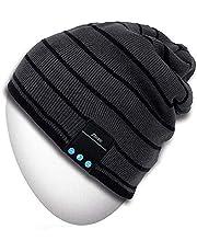 MYDEAL Kabellos Bluetooth Mütze Hut Kappe für Männer Frauen mit Stereo Kopfhörer Lautsprecher Kompatibel mit iPhone Android-Handys für Gym Ski Snowboard Laufen Skaten Wandern