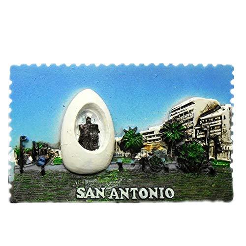San Antonio Texas America USA Fridge Magnet 3D Resin Handmade Craft Tourist Travel City Souvenir Collection Letter Refrigerator Sticker for $<!--$6.80-->