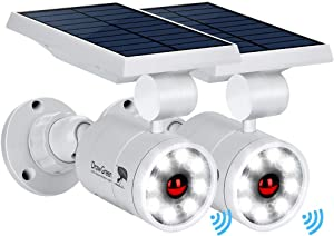 Solar Lights Outdoor Motion Sensor of 2, 9-Watt(130W Equ.) 1400-Lumen LED Spotlights , Solar Flood Security Lights for Garden Driveway Patio Yard Path Porch Deck, 100-Week 100% Free Replacement