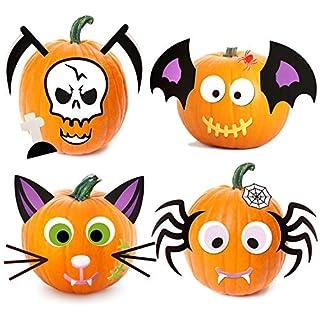 Joyjoz Halloween Pumpkin Decorating, 26pcs Foam Pumpkin Stickers Craft Kit for Halloween Party Decoration Cute Halloween Decor, Gifts and Crafts for Kids