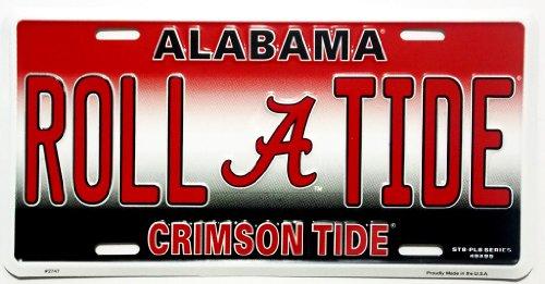 NCAA Alabama Crimson Tide Embossed Aluminum Team Color Vanity License - Auto Tide Color Alabama Crimson