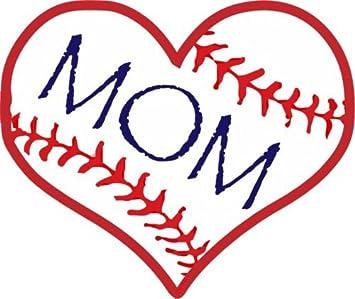 WickedGoodz Oval Vinyl Baseball Mom Decal Sports Bumper Sticker Baseball Mom Gift