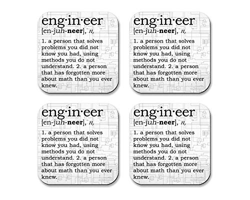 Engineer Fabric Coaster Set with Rubber ()
