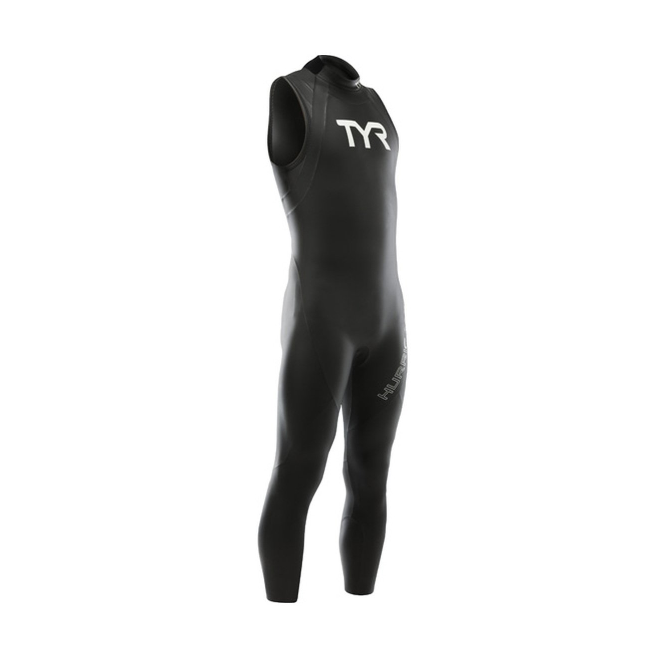 TYR Men's Hurricane Sleeveless Wetsuit Category 1, Black/White, XX-Large by TYR