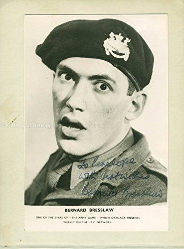 Bernard Bresslaw - Photograph Signed co-signed by Dorothy Bromiley