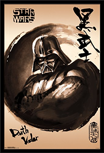 Trends International Wall Poster Star Wars Vader Painting, 24 x 36