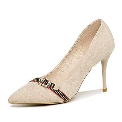 db77e16c819eb5 Chaussures Femmes Escarpins Talons Hauts Aiguilles Daim Daim Boucle