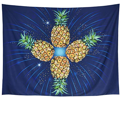 Amonercvita Fresh Pineapple Tapestry Fruit Tapestry Wall Hanging Bohemian Colorful Pineapple Wall Tapestry Wall Art Tapestry for Living Room Bedroom Dorm Home Decor(Pineapple, 51