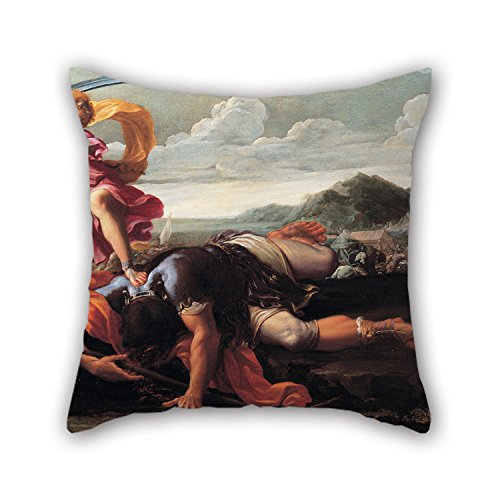 Goliath Sushi (Pillow Covers Of Oil Painting Guillaime Courtois - David And Goliath 18 X 18 Inches / 45 By 45 Cm Best Fit For Bench Home Theater Festival Gril Friend Lounge Both Sides)