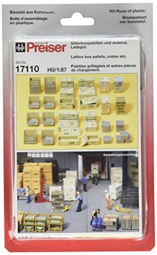 - Preiser 17110 Lattice Box, Pallets & Crates Package(38) HO Scale Scenery  Set