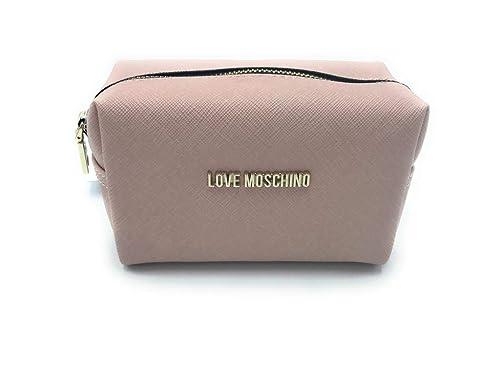 Love Moschino - Cartera de mano de cuero sintético para mujer Rosa Rosa talla de un talla: Amazon.es: Zapatos y complementos