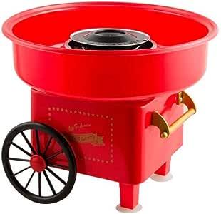 Wonduu | Máquina de algodón de azúcar JK-M01| Algodonera de 450W | Cotton Candy Machine | Acero Inoxidable | Rojo: Amazon.es: Hogar
