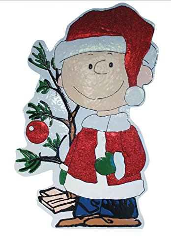 ProductWorks 42-Inch Peanuts Metal Charlie Brown with Tre...