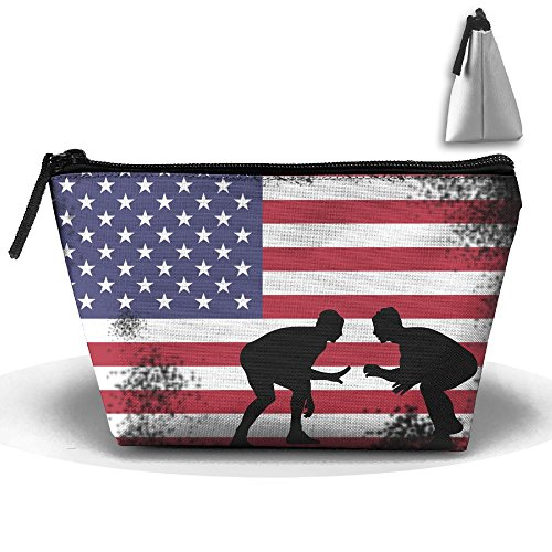 (Fengyaojianzhu American Flag Wrestling Wrestling Gift Portable Make-up Receive Bag Storage Capacity Bags For Travel With Hanging Zipper)