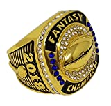 Decade Awards 2018 Gold Fantasy Football Champion Ring | Style B | Heavy